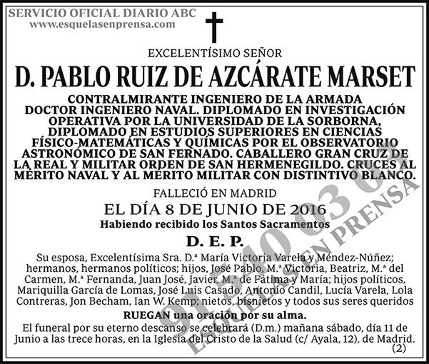 Pablo Ruiz de Azcárate Marset